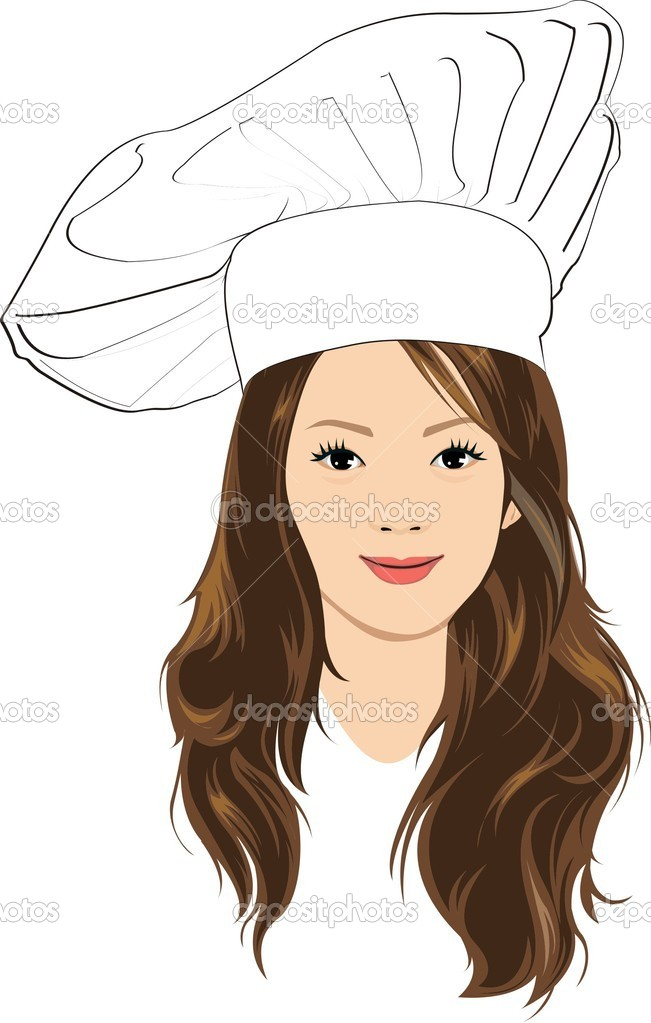 girl chef stock vector