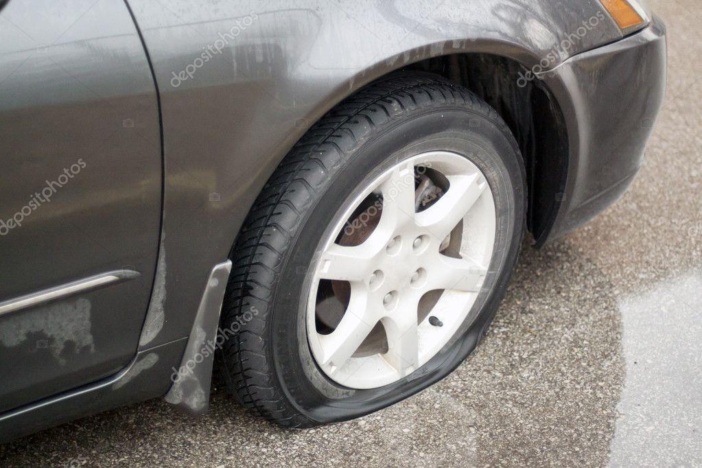 Flat Tire Rental Car Enterprise