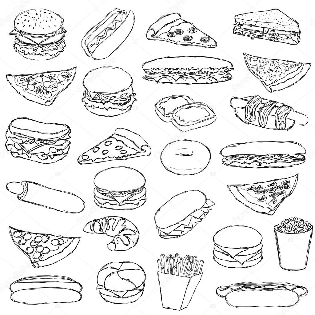 Coloring Pages Picnic Food Coloring Pages