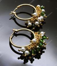 Handmade earrings with gemstones  Stock Photo  tegma ...