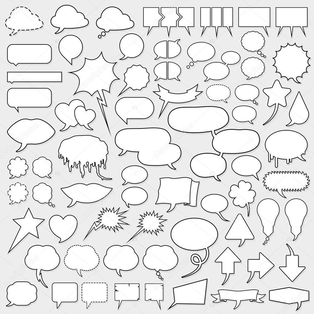 Huge cartoon speech bubble set — Stock Vector © a__n #6218650