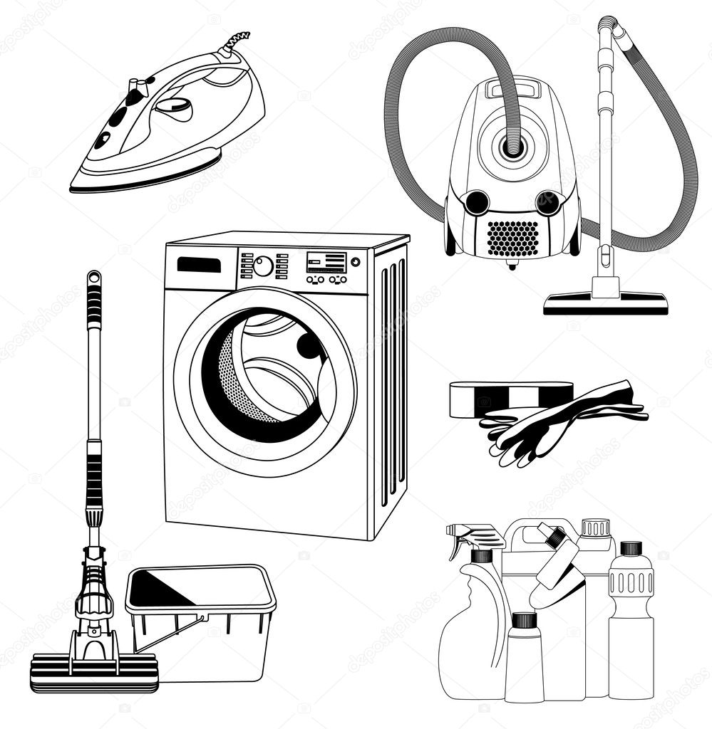 Free house cleaning coloring pages
