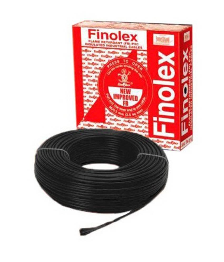 medium resolution of buy finolex 10302 0 75 sq mm 6 a 90 m flame retardant cable black online in india at best prices