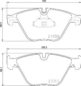 Hella Pagid Bmw 5 Series F10 Brake Pads Front 355015261