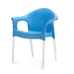 Plastic Chairs With Stainless Steel Legs Dining Table Chair Covers Amazon Buy Nilkamal Novella Blue 09 Flocnovlawaocs9004 Online In India At Best Prices