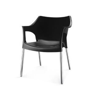 plastic chairs with stainless steel legs folding chair regina spektor chords buy nilkamal novella black 10 flocnovla2kit10blk online in india at best prices