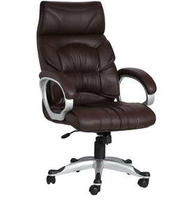 office chair online india folding beach chaise lounge chairs buy vj interior doblepiel brown color executive in at best prices