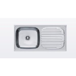 kitchen sinks with drain boards corner bench buy franke 611 single bowl board sink in matt finish online india at best prices