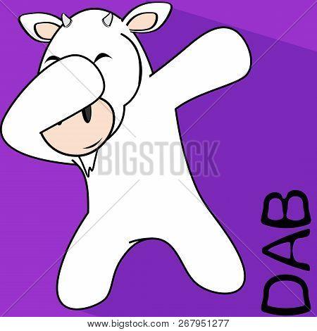 dab dabbing pose goat
