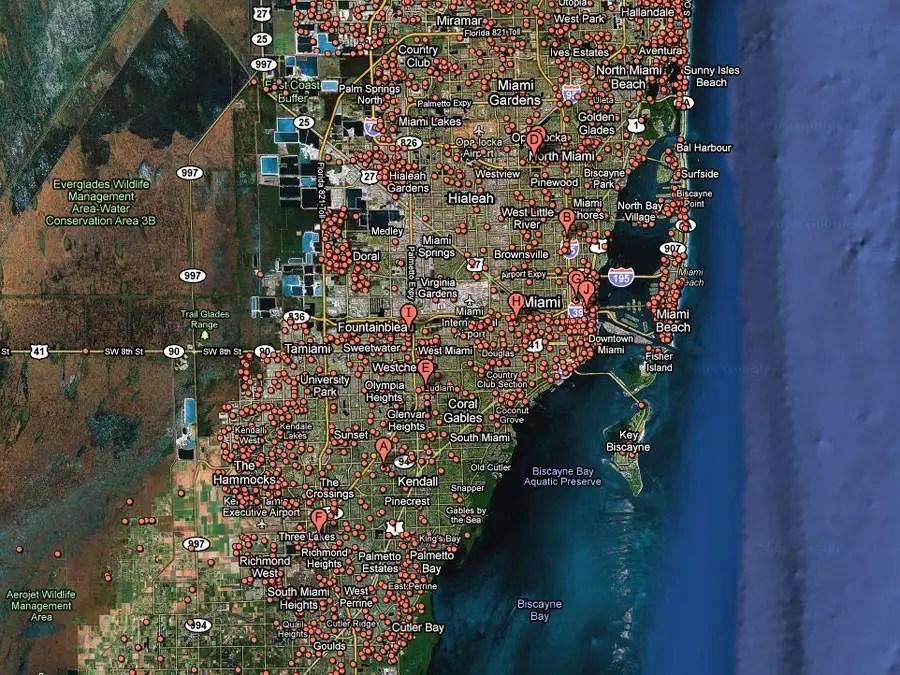 Miami -- 1 in 14 homes in foreclosure
