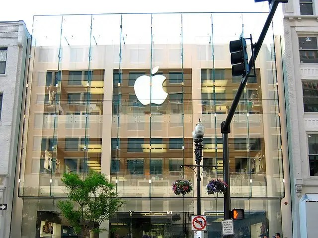 Apple is quite fond of big glass fronts for its stores, like this one in Boston