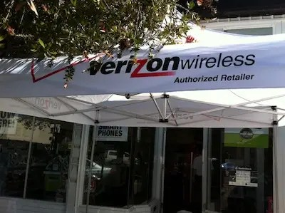 Radio Shack Verizon awning