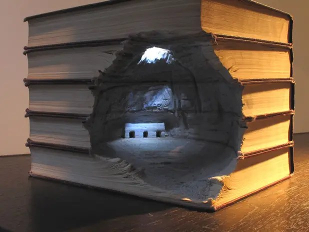 Carved books