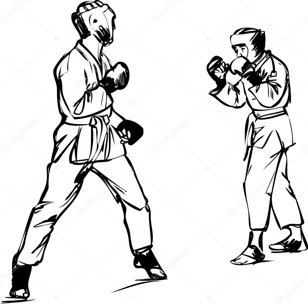 Karate Kyokushinkai Sketch Martial Arts And Combative