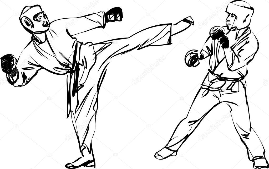 Karate Kyokushinkai sketch martial arts and combative