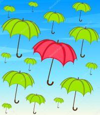 Umbrella with wallpaper design  Stock Vector  Forewer ...