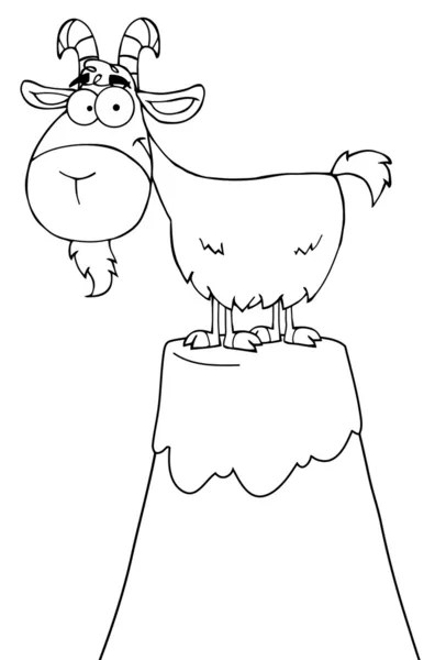 desert island cartoon coloring page — Stock Vector