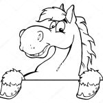 Outlined Horse Over A Sign Stock Photo C Hittoon 7277402