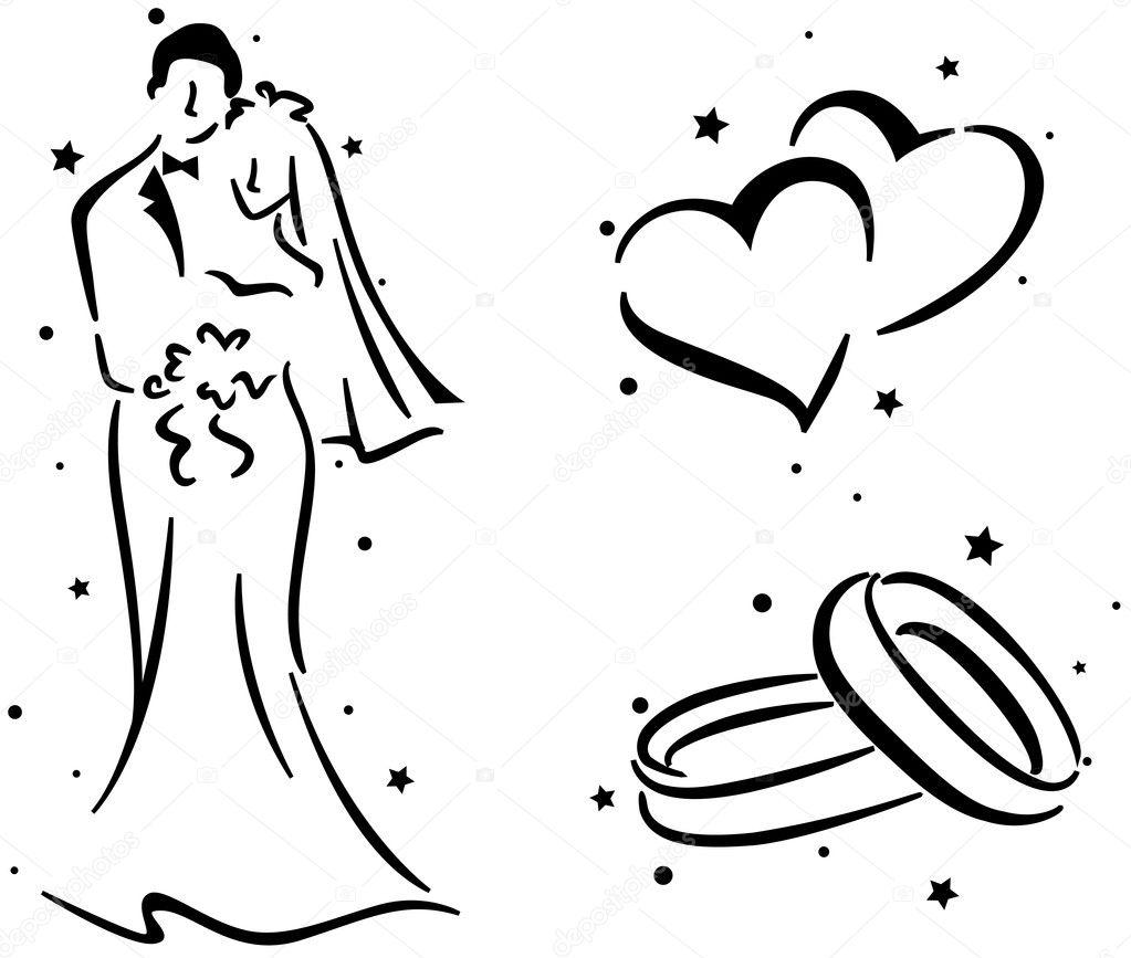 Wedding Stencil — Stock Photo © lenmdp #7600840