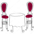 Cafe chairs with table stock vector 169 glyph studio 7121838