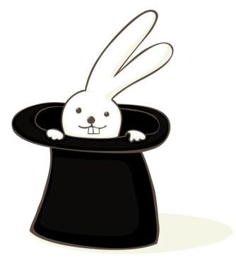 ᐈ Coniglio nel cilindro vettore di stock, illustrazione mad clown ...