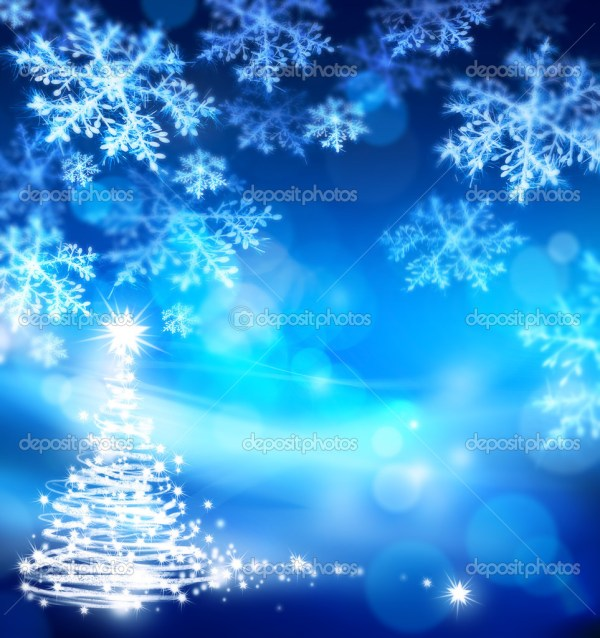 Art Abstract Christmas Blue Background Stock Konstanttin #7346037