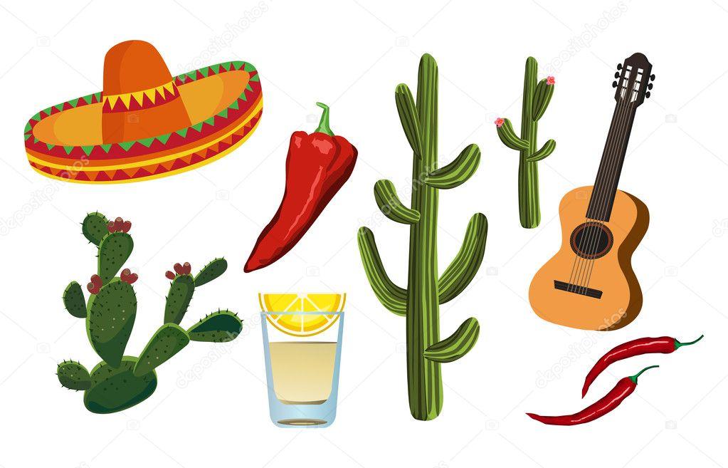 Spanish Culture Symbols Background