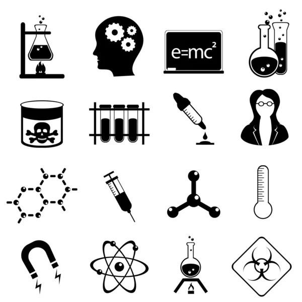 Science icon set — Stock Vector © soleilc #7277797