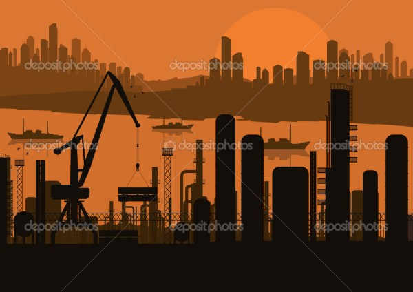 industrial factory landscape background