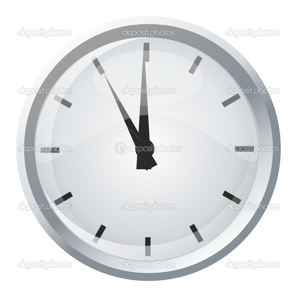 Classic Office Clock Without Numbers