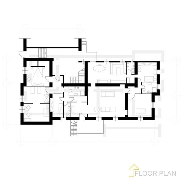 papieren model huis overzicht — Stockvector © Furian #44885477