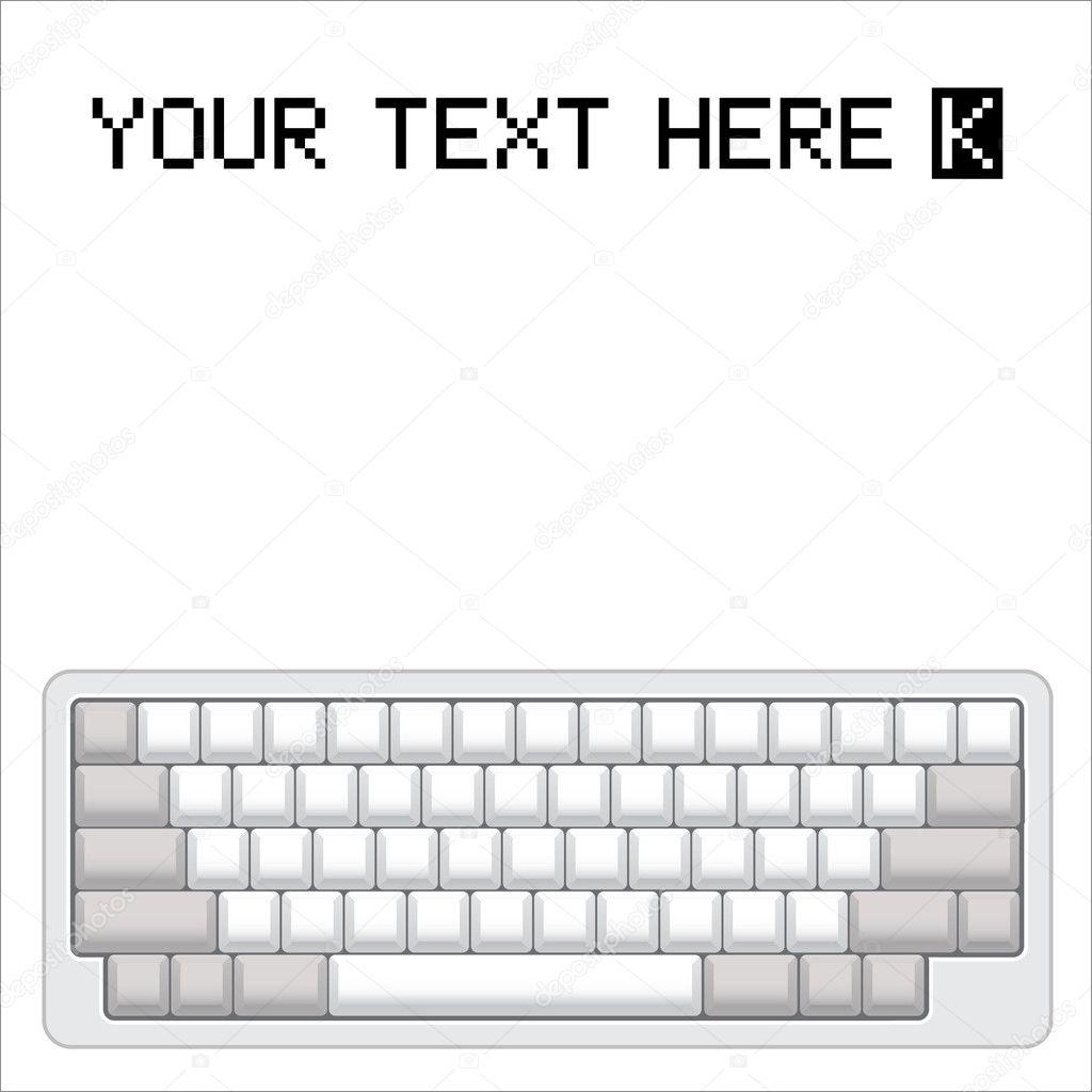 hight resolution of computer keyboard diagram