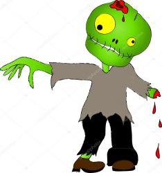 clip zombie halloween boy cartoon vampire walking dead depositphotos