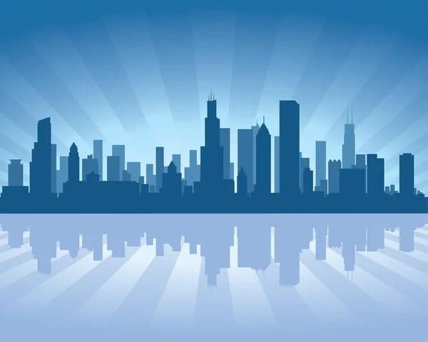 chicago skyline stock vectors