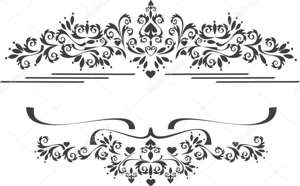 Ecorative Ornament Rahmen, Gestell. Bildende Künste