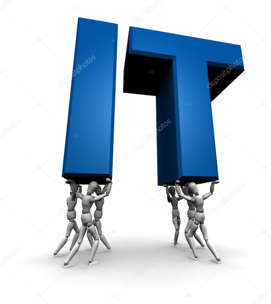 Team of Lifting IT Information Technology  Stock Photo  eyeidea 7951909