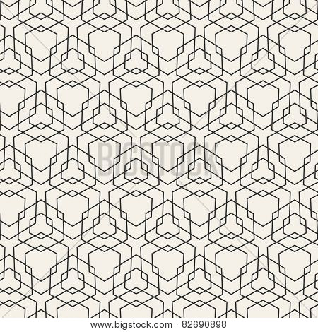 Vector Modern Pattern. Black Techno Repeating Texture
