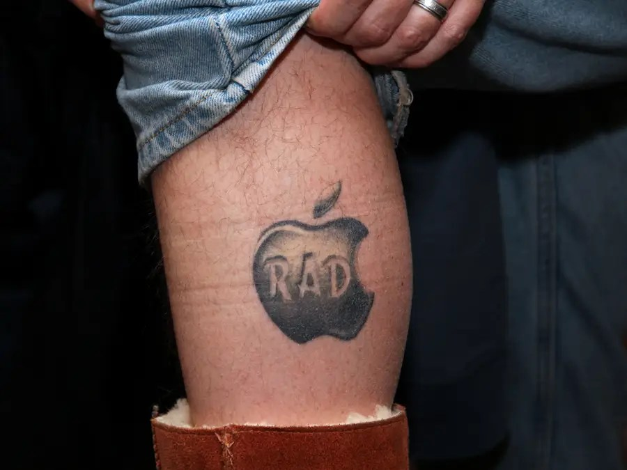 "Here's a close-up. Why? ""Because it's Apple and it's awesome,"" he said."