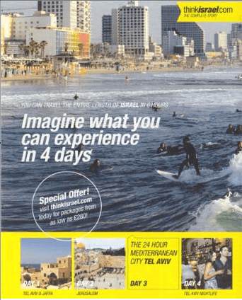 First the ASA banned this Israeli tourism ad in June 2009 after receiving a complaint that