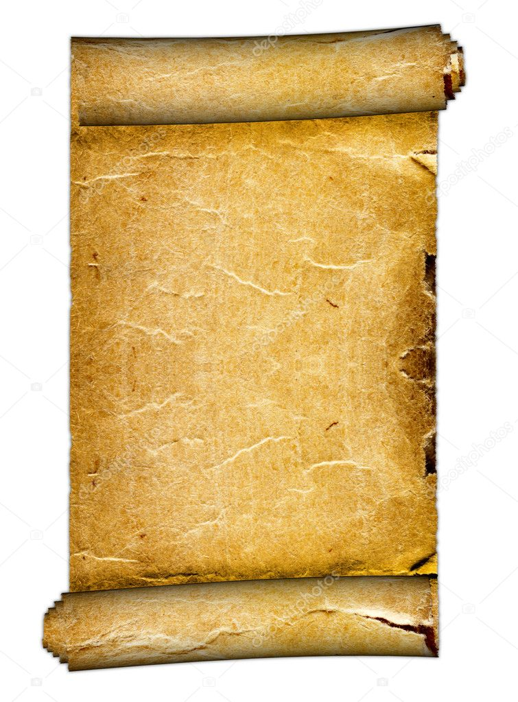 blank scrol stock photo