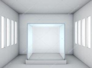 glass showcase empty modern windows