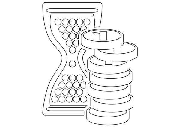 Retro manual typewriter sketch — Stock Vector