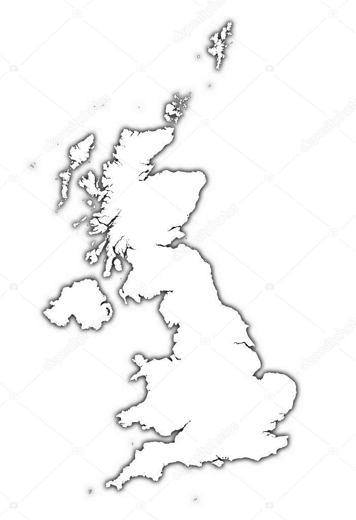Cartina Muta Del Regno Unito