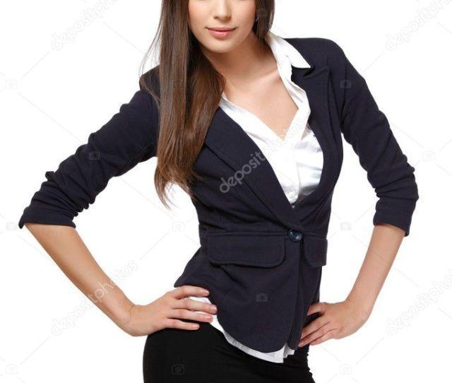 Beautiful Woman Posing On White Background Photo By