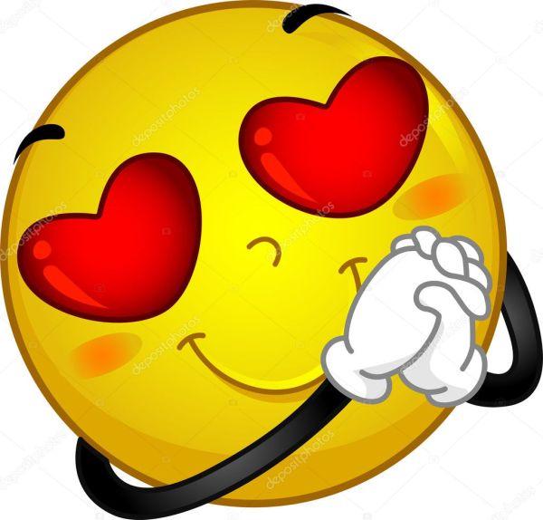smiley in love stock
