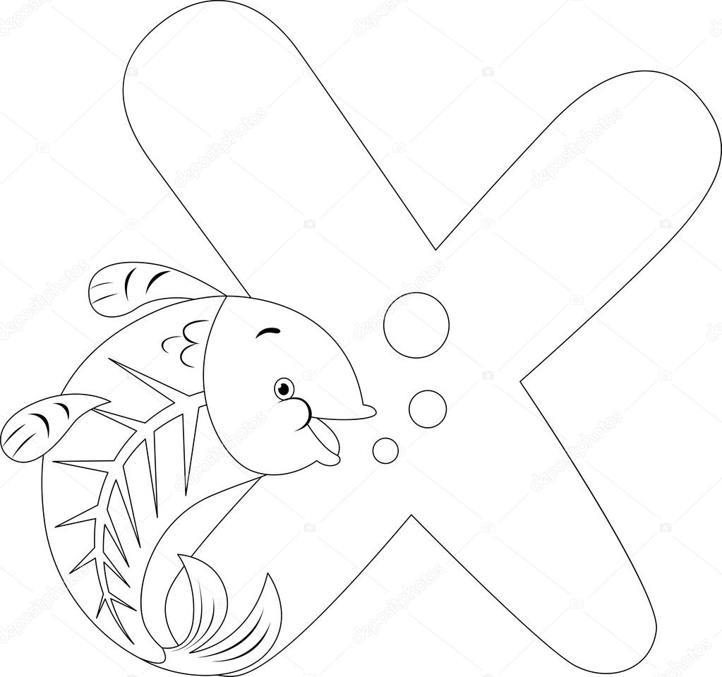 Coloring Page X Ray Fish Stock Photo © Lenmdp 8942760
