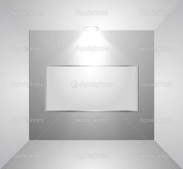 Empty Wall With Light. Vector Stock