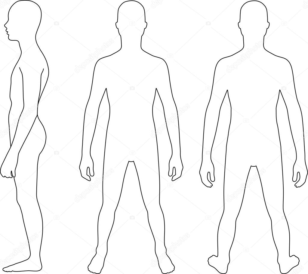 Human Body Outline Front And Back