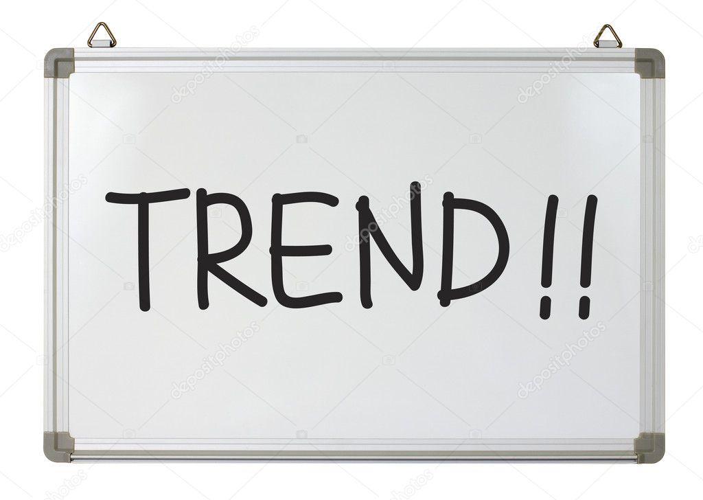 Trend Word On Whiteboard — Stock Photo © Mhatzapa #9725178