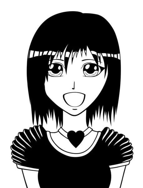 jeune fille manga images vectorielles